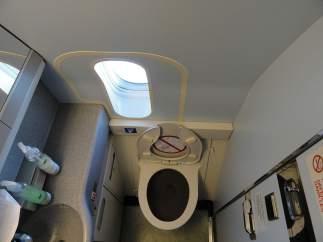 Meterte en el baño cuando el avión va a aterrizar