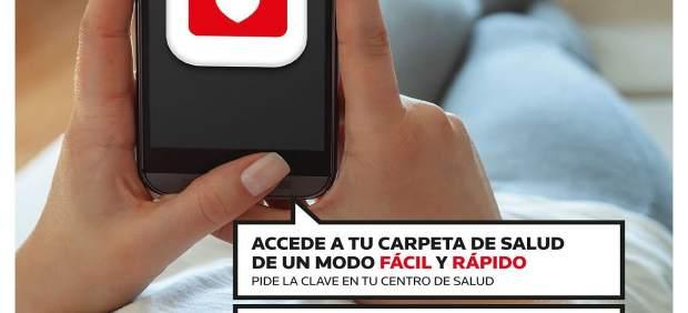 Cartel de la campaña informativa de la Carpeta Personal de Salud
