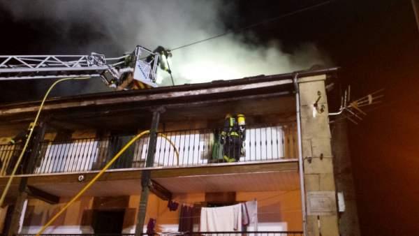 Incendio en una vivienda de Vega de Pas
