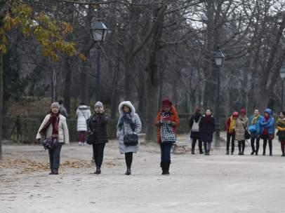 Invierno, invernal, frío, temperaturas bajas, abrigo, abrigarse, turista