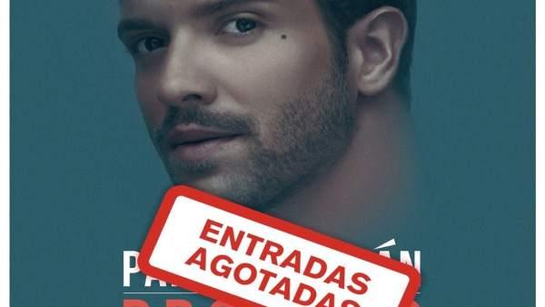 Cartel del concierto de Pablo Alborán en Mérida