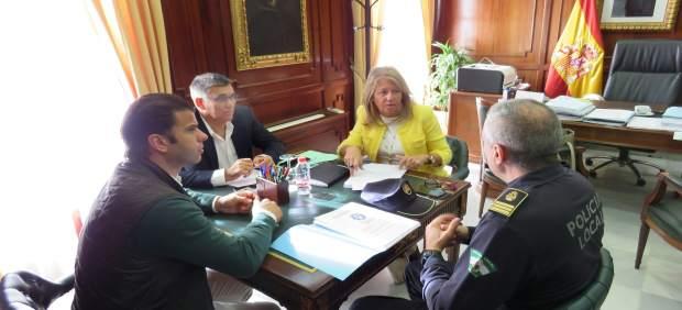 Reunión alcaldesa Marbella sobre grafitis