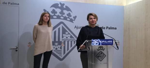 Margalida Durán en rueda de prensa en Cort