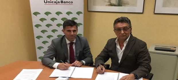 Firma convenio Unicaja Banco y Apymem