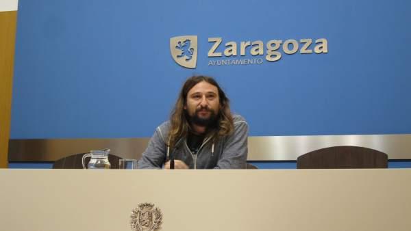 El concejal de Vivienda y Deporte, Pablo Híjar, hoy en el Ayuntamiento