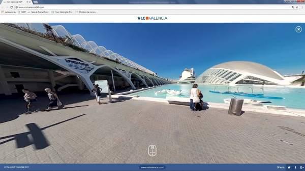 Imagen panorámica de la Ciudad de las Artes y las Ciencias