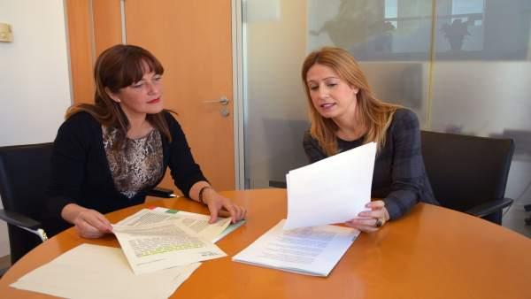 Diputadas socialistas Antonia García y Sonia Ramos