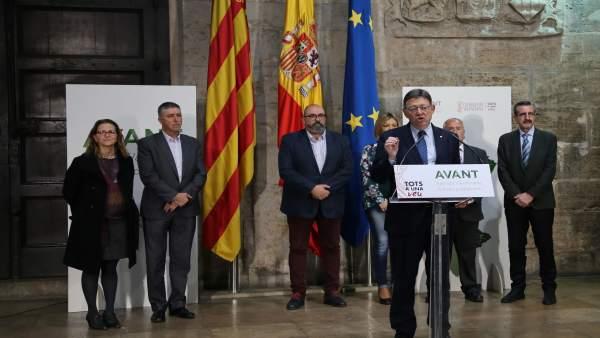 Presentación de la campaña en el Palau de la Generalitat