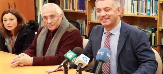 O Secretario Xeral De Política Lingüística, Valentín García, E O Presidente Do