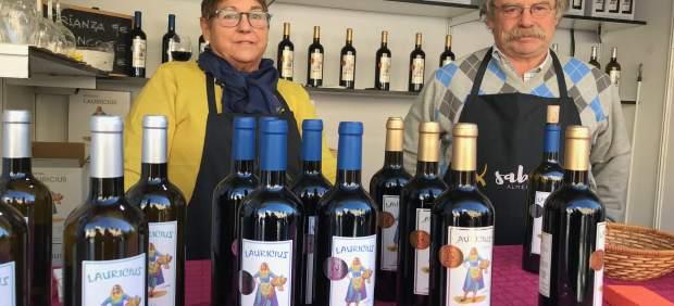 Los vinos de Abrucena de Bodegas 'Lauricius', en la Feria 'Sabores Almería'.
