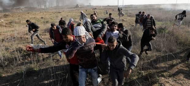 Un herido palestino