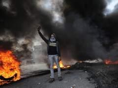 Protestas contra Trump e Israel en Gaza