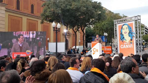 Albert Rivera en un acto de Cs