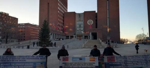 Los marineros de Long Hope se manifiesta en Oslo