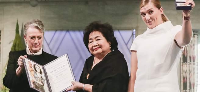 Berit Reiss-Andersen, Setsuko Thurlow y Beatrice Fihn