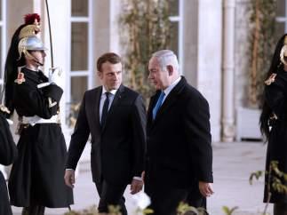 Macron y Netanyahu