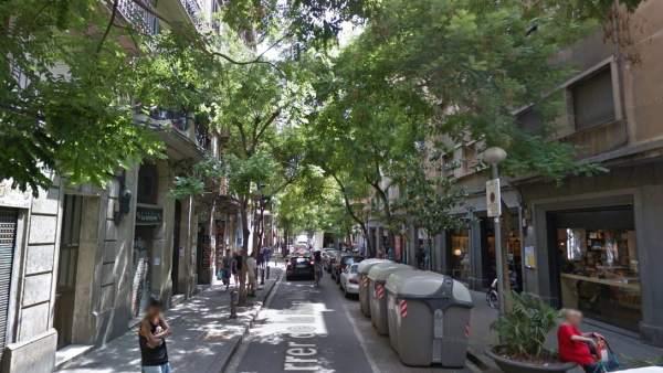 Calle Riera Alta de Barcelona, en el distrito de Ciutat Bella.