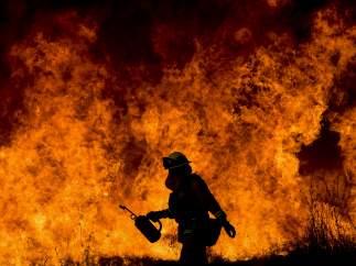 En medio de las llamas