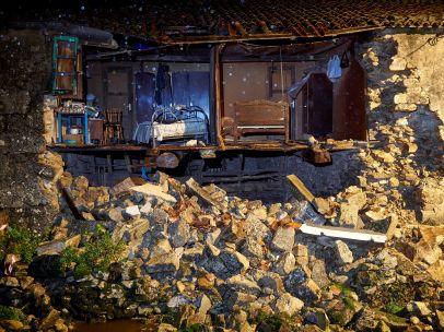 Casa derrumbada en Lugo
