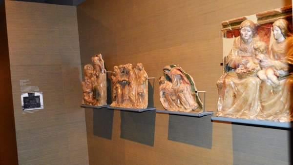 Piezas originarias de Sijena, en el Museu de Lleida