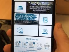 Aplicación de Mondragon Unibertsitatea