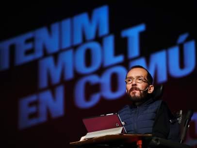 Pablo Echenique, secretario de Organización de Podemos, el pasado viernes en un acto de la campaña de las elecciones autonómicas catalanas.