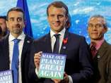 Emmanuel Macron, cumbre del clima