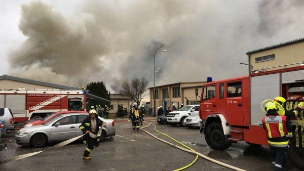Explosión en una estación de gas
