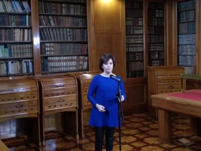 La vicepresidenta del Gobierno, Soraya Sáenz de Santamaría, en Barcelona