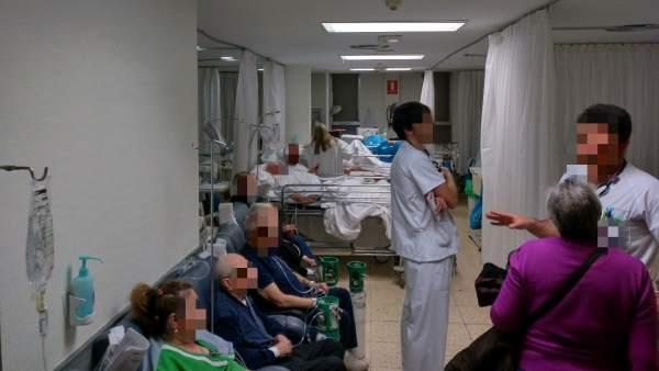 Las urgencias del Hospital La Paz, colapsadas