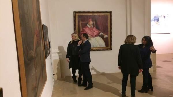 Javier Celdrán, Visita El Montaje De La Exposición 'Exe 2017'