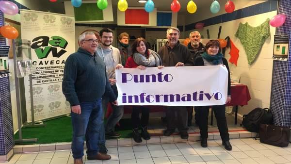 Presentación del punto informativo vecinal en el Mercado de Delicias