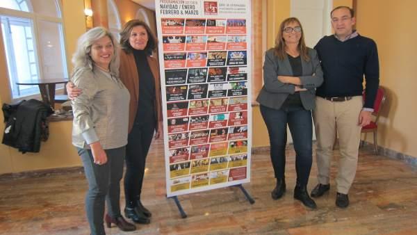 Presentación programación del Gran Teatro de Cáceres hassta marzo