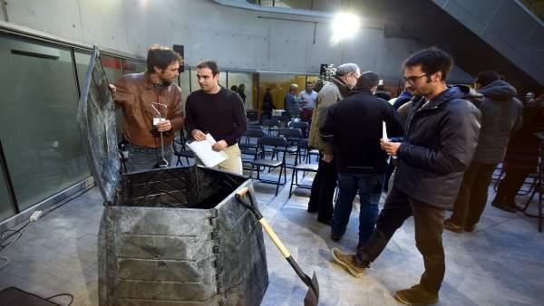 Entrega de máquinas de compostaje en Diputación
