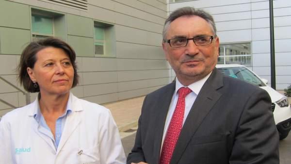 Teresa Antoñanzas, del Miguel Servet, y Antonio Cobo, director de Opel España