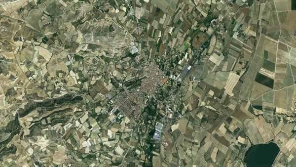 Imagen aérea de Tudela y su comarca.