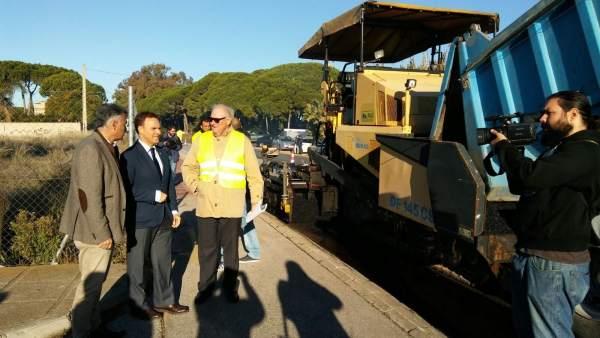Visita obras carretera CA-603