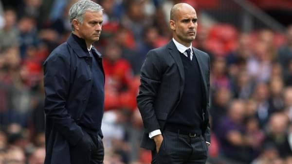Jose Mourinho y Pep Guardiola