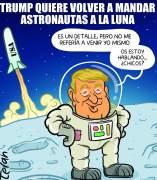 Trump en la luna. Viñeta de Álvaro Terán
