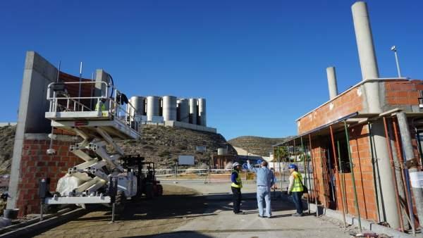 Obras de acceso al puerto de Carboneras