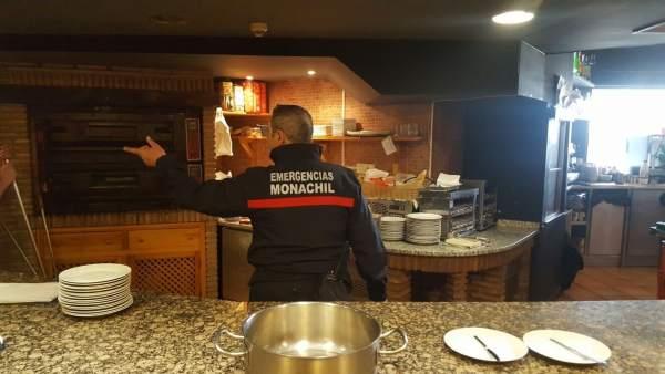 Daños por incendio en un restaurante de Sierra Nevada