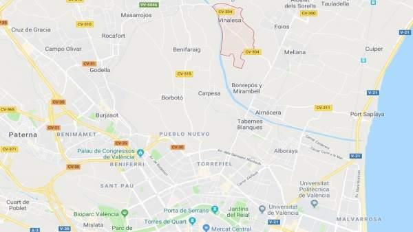 Localización de Vinalesa