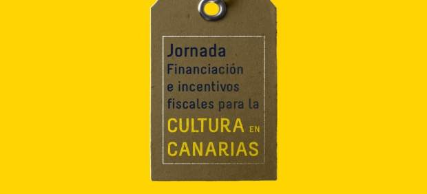 Cartel del a Jornada sobre Financiación a incentivos fiscales para la cultura