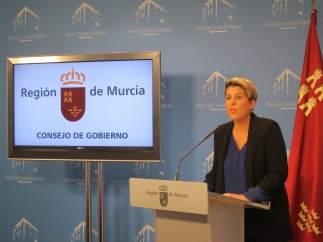 Noelia Arroyo, en la rueda de prensa posterior al Consejo
