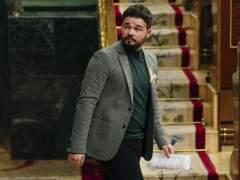 Gabriel Rufián, diputado de ERC, en el Congreso de los Diputados.