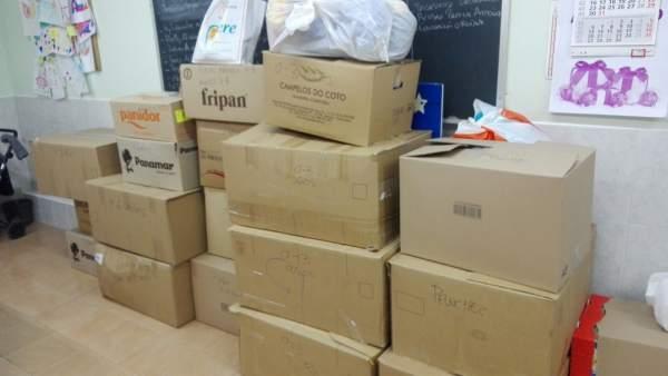 Valladolid: cajas repletas de juguetes