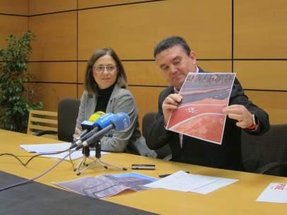 Susana Hernández y Enrique Ayuso PSOE Murcia