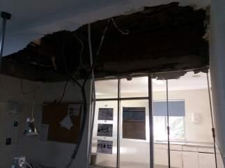 Desperfectos en el techo del Hospital Gregorio Marañón