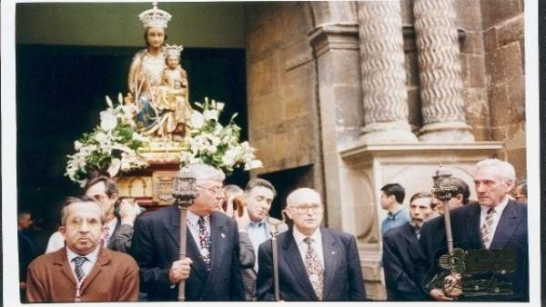 Imagen de la procesión de la Virgen de la Esperanza, patrona de Logroño