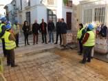 Guillermo Casquet ha visitado las obras del PFEA en Huércal-Overa.